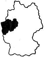 Deutschlandkarte - NRW ist hervorgehoben